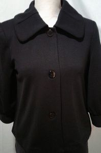 🌺 NWT Isaac Mizrahi Black Knit Jacket